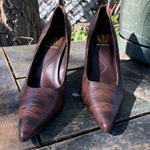 Ann Marino Snake Print Heels